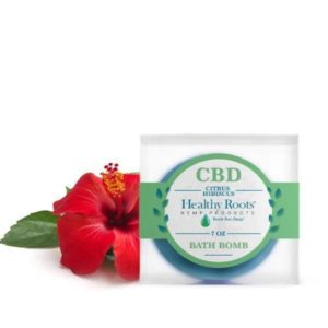 Citrus Hibiscus CBD Bath Bombs - 50mg