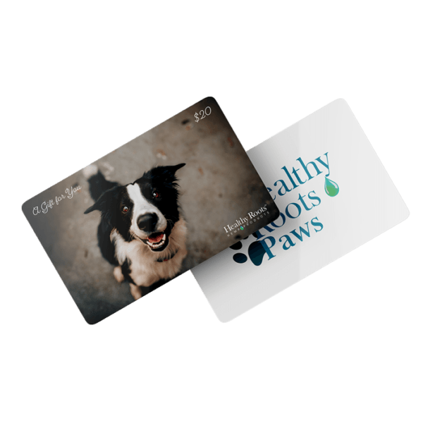 Healthy Roots Gift Cards Paws cbd gift card
