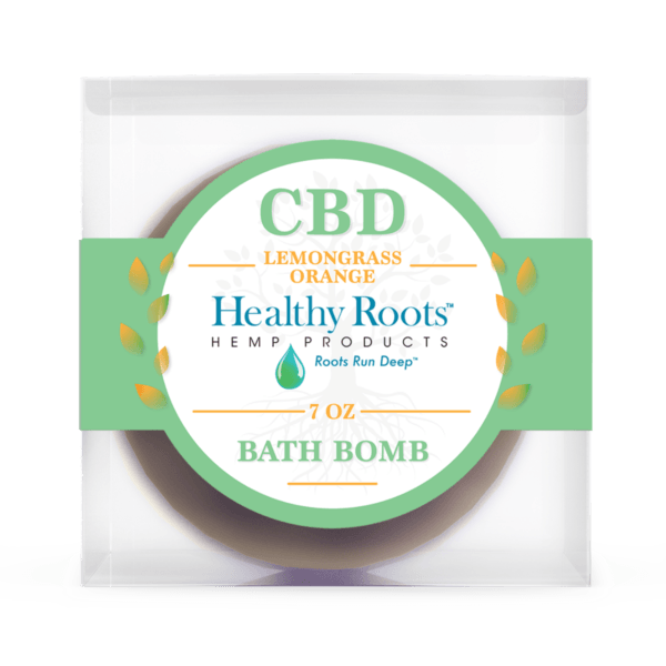 Healthy Roots Hemp Bath Bombs Lemongrass Orange hemp bomb cbd