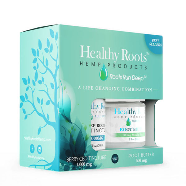 Healthy Roots Hemp CBD Gift Set
